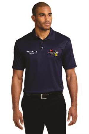 Performance Fine Jacquard Polo. K528  (The Royal)