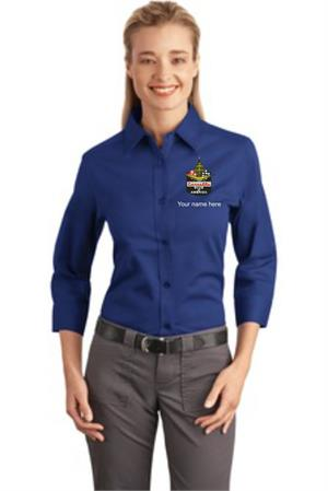 Ladies 3/4-Sleeve Easy Care Shirt. L612