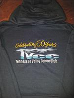 Navy Hoodies Celebrating 50 Years TVCC