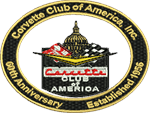 60th Anniversary CC of American logo for left chest